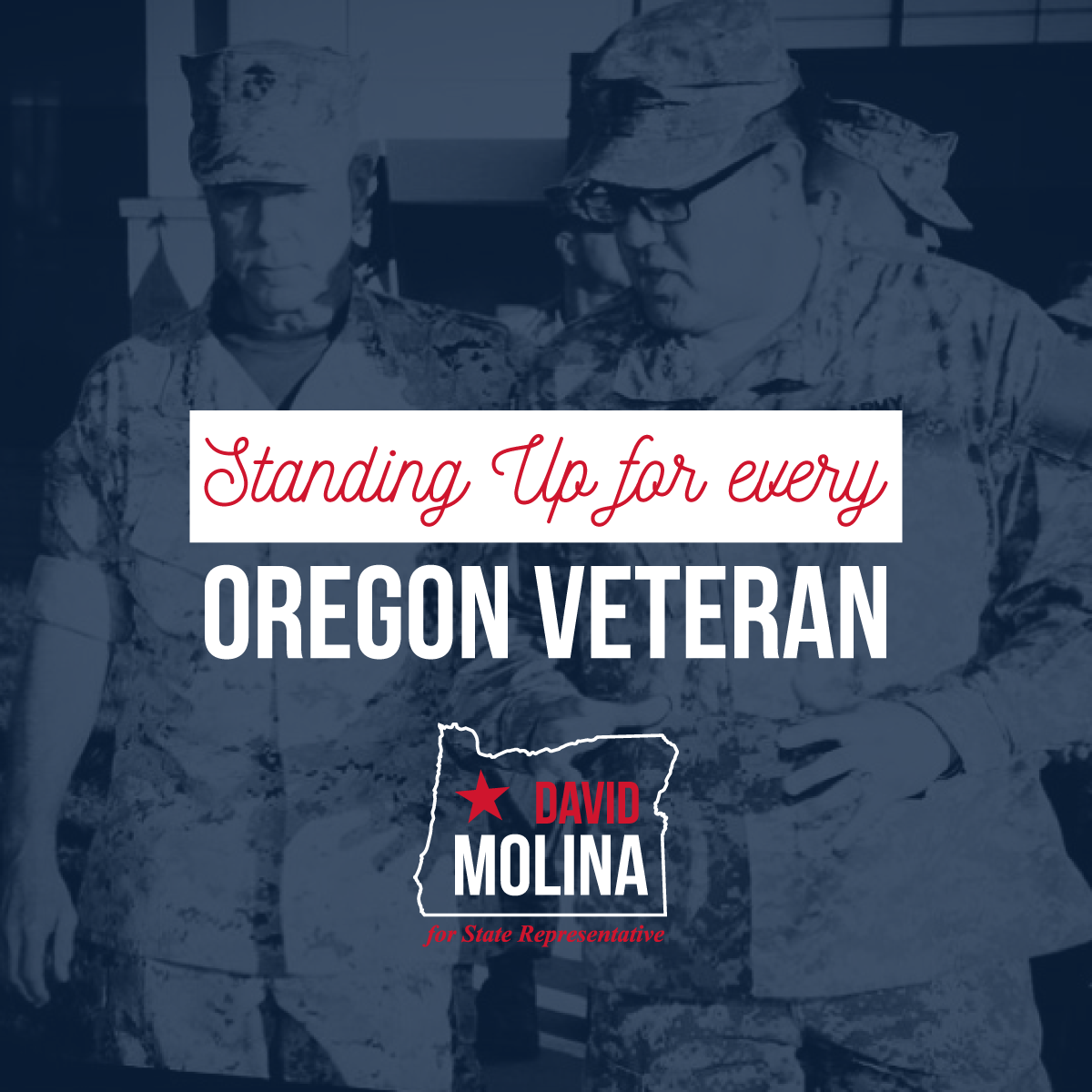 Former Army Captain David Molina founded a national veterans nonprofit after he couldn't use his New GI Bill to go to code school. Let's send him to Salem