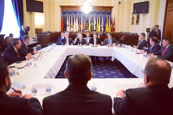 Operation Code Founder David Molina testifying before veteran service organizations roundtable with H. Veterans Affairs Committee members, Washington, D.C., 2016