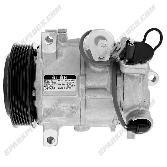 Picture of Denso 471-0834 New A/C Compressor with Clutch