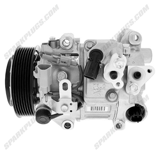 Picture of Denso 471-1037 New A/C Compressor with Clutch