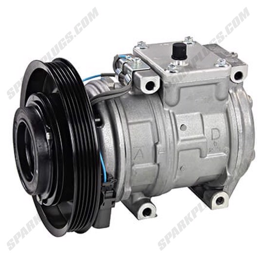 Picture of Denso 471-1186 New A/C Compressor with Clutch