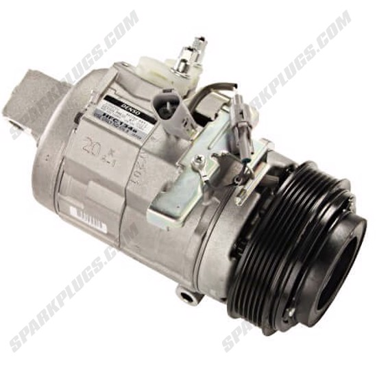 Picture of Denso 471-1412 New A/C Compressor with Clutch