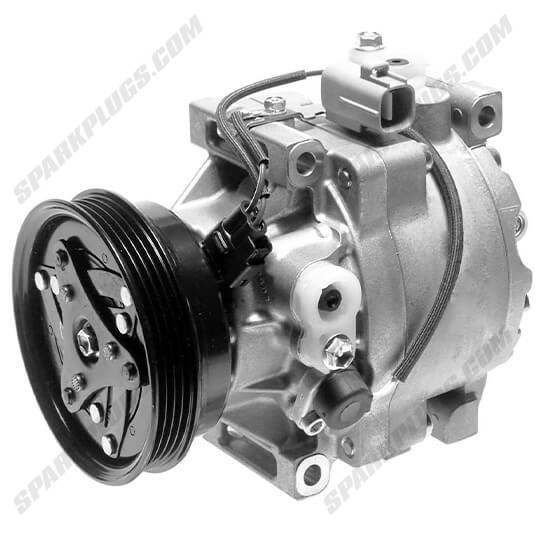 Picture of Denso 471-1419 New A/C Compressor with Clutch