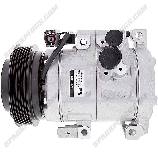 Picture of Denso 471-6076 New A/C Compressor with Clutch