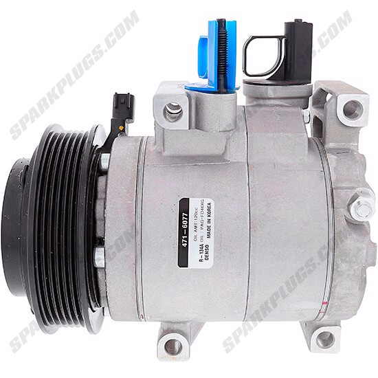 Picture of Denso 471-6077 New A/C Compressor with Clutch