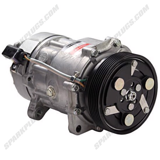 Picture of Denso 471-7003 New A/C Compressor with Clutch