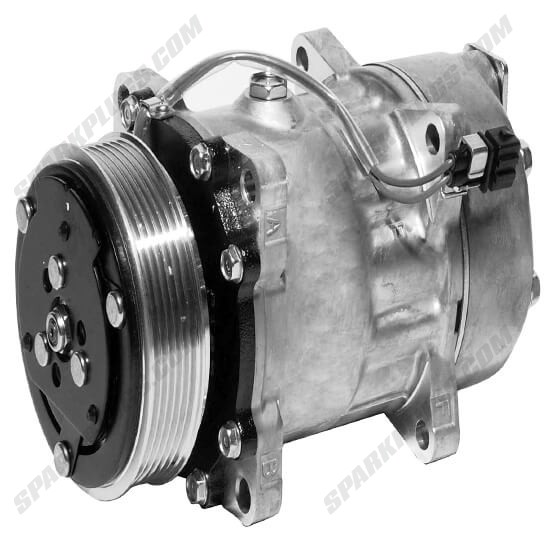 Picture of Denso 471-7039 New A/C Compressor with Clutch