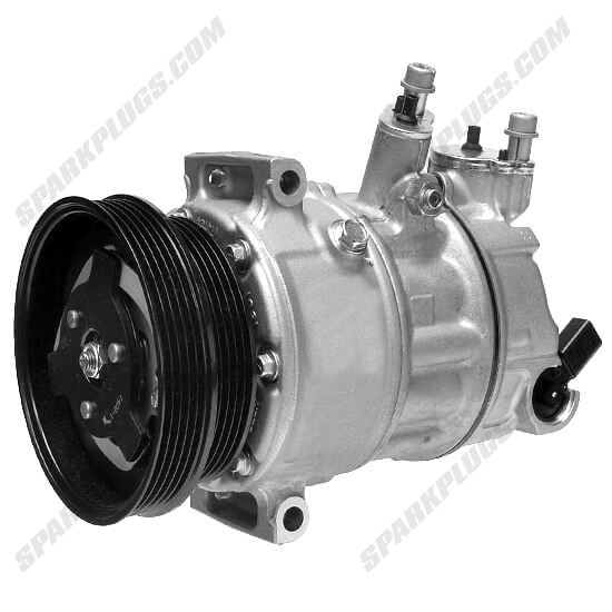 Picture of Denso 471-7058 New A/C Compressor with Clutch