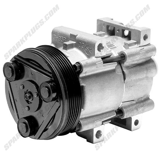 Picture of Denso 471-8104 New A/C Compressor with Clutch