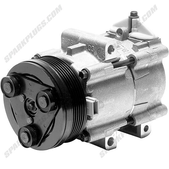 Picture of Denso 471-8117 New A/C Compressor with Clutch