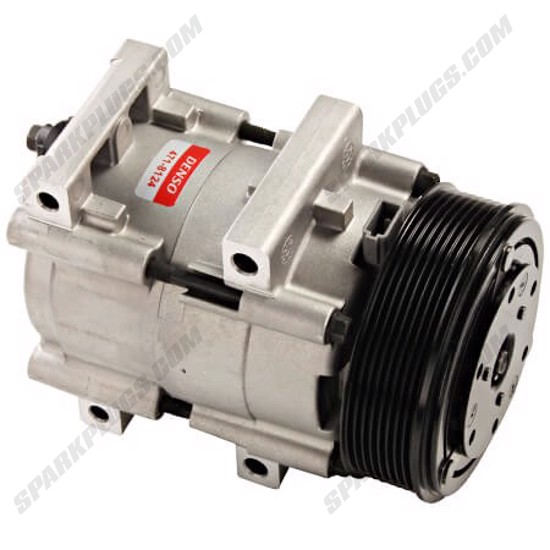 Picture of Denso 471-8124 New A/C Compressor with Clutch