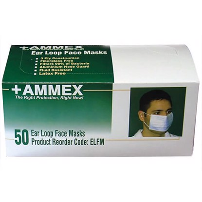 Ammex ELFM Ear Loop Face Masks