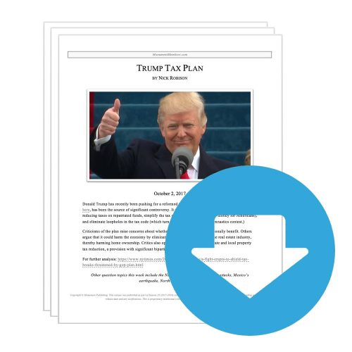 "Extemp Release #14: ""Trump Tax Plan"""