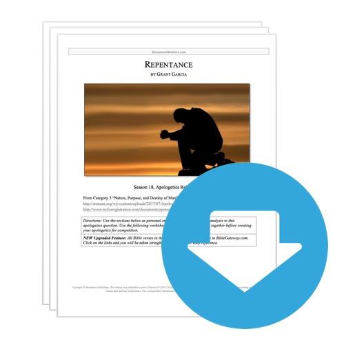 "Apologetics Release #41: ""Repentance"""