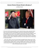 "Extemp Release #41: ""Good News from North Korea"""