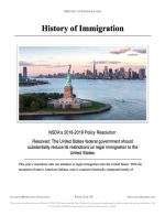 "NFHS Policy Release #01: ""History of Immigration"" (INFO)"