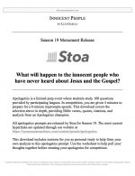 "Stoa Apologetics Release #18: ""Innocent People"""