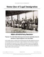 """NFHS Policy Release #02: """"Status Quo Immigration"""" (INFO)"""