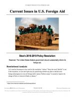 """Stoa Policy Release #02: """"Status Quo Foreign Aid"""" (INFO)"""