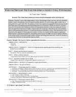 """Stoa Policy Release #03: """"Ag Universities"""" (AFF)"""