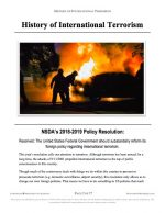 "NCFCA Policy Release #01: ""History of International Terrorism"" (INFO)"
