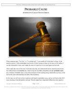 "Stoa Lincoln-Douglas Release #09: ""Probable Cause"" (AFF)"