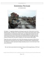 "Extemp Release #09: ""Indonesia Tsunami """