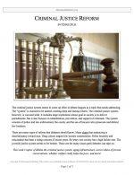 """Parli Release #11: """"Criminal Justice Reform"""""""