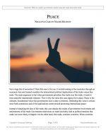 "NCFCA Lincoln-Douglas Release #14: ""Peace"" (NEG)"