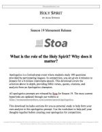 "Stoa Apologetics Release #16: ""Holy Spirit"""
