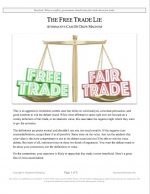 """NCFCA Lincoln-Douglas Release #19: """"The Free Trade Lie"""" (AFF)"""