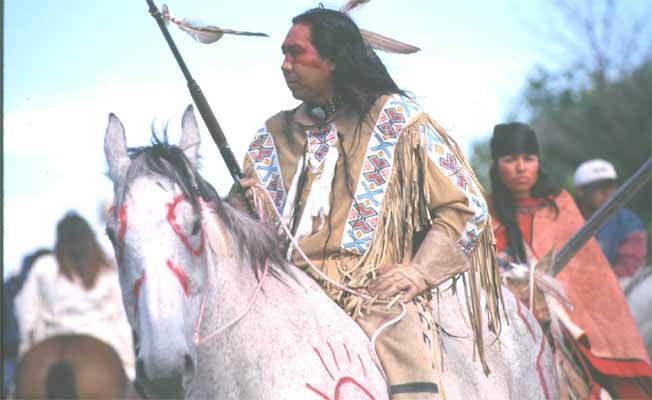 Indian on painted horse