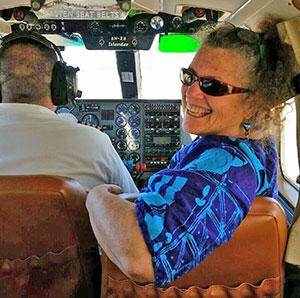 Ricki in a plane