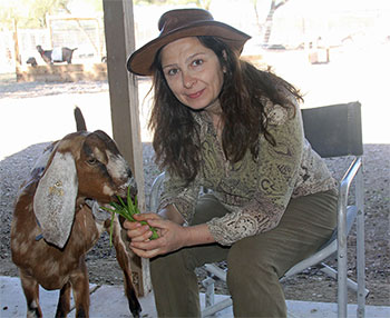 connie paris and goat
