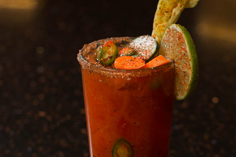 Bloody Mary: Vodka with seasonings, Clamato and fresh citrus juice
