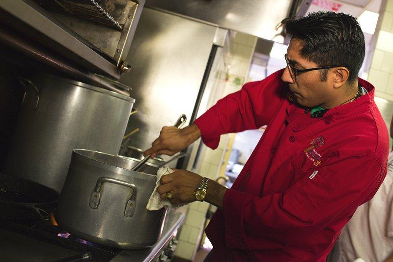 Executive Chef David Matias, is always hard at work
