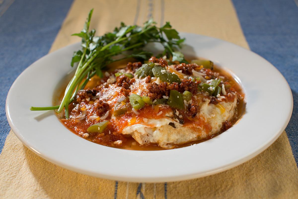 Corn And Black Bean Huevos Rancheros With Roast Zucchini Salsa Recipe ...