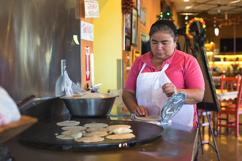 Don't miss your chance to taste a corn tortilla, hot off the grill, made fresh daily