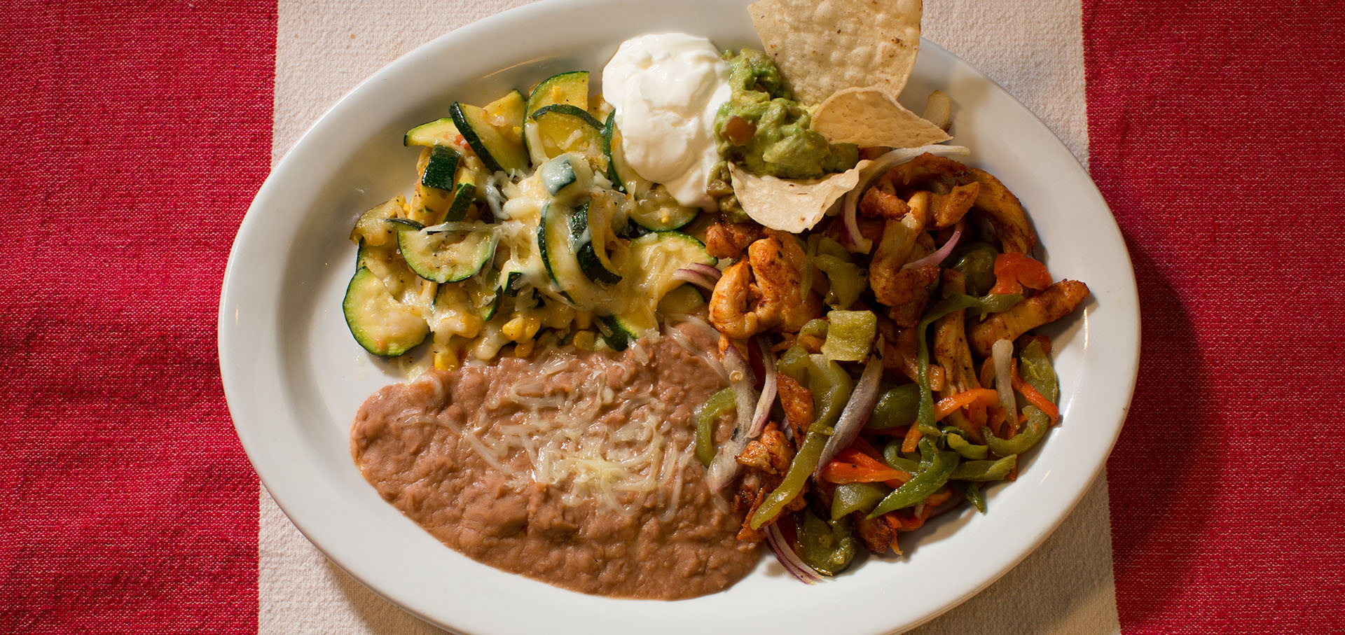 Chicken Fajitas: one of Teresa's Mosaic Cafe's most popular dishes