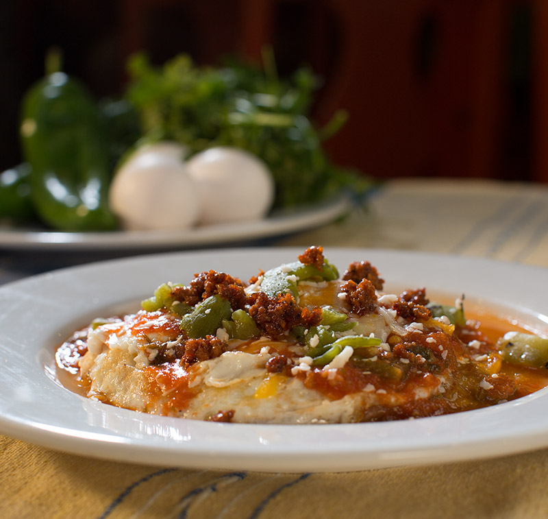 Huevos Rancheros: a signature dish at Teresa's Mosaic Cafe