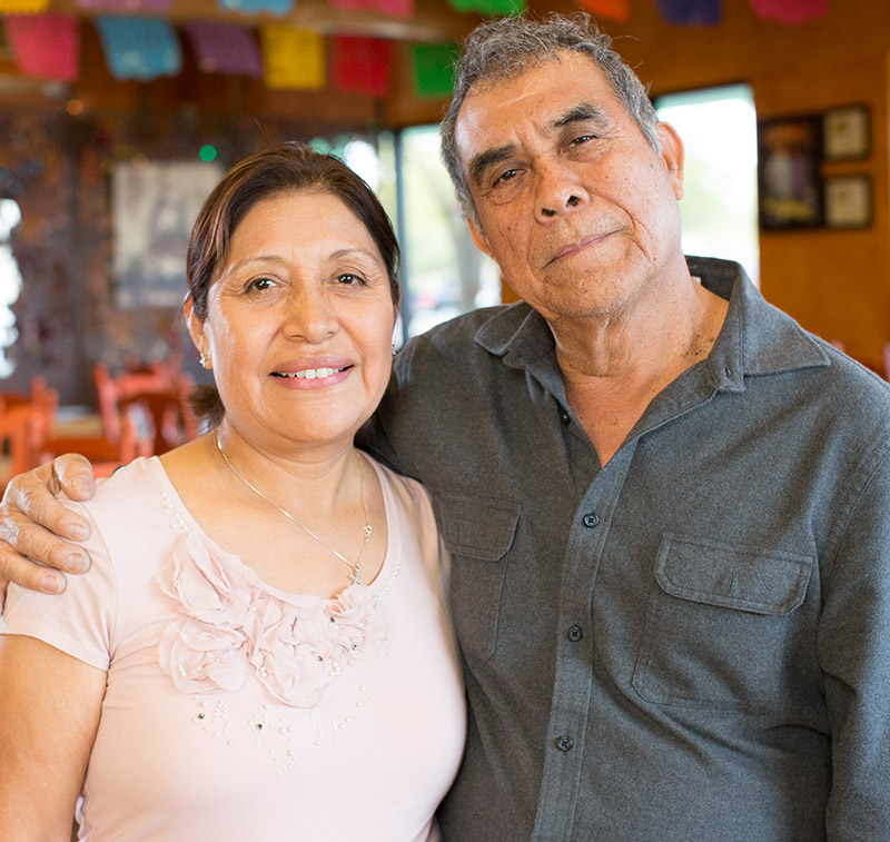 Portrait of Teresa & Alfonso Matias, owners of Teresa's Mosaic Cafe