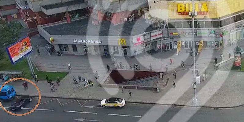 Момент ДТП Ferrari с маршруткой в Москве попал на видео