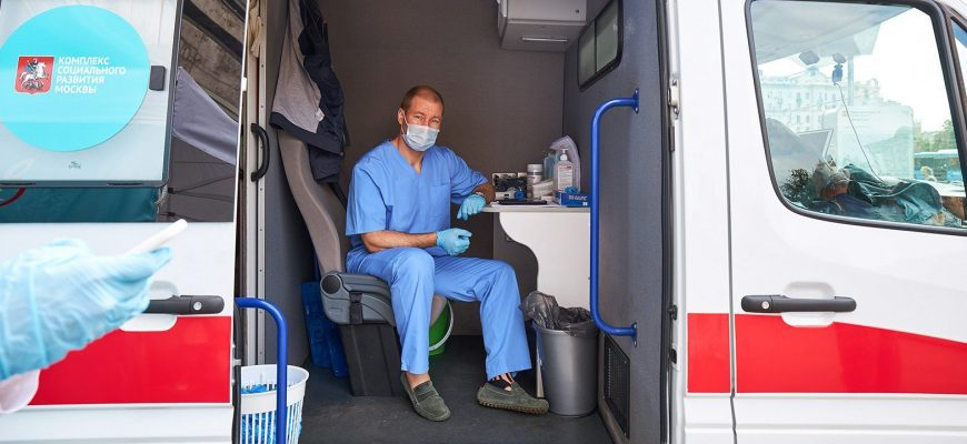 Прививку от гриппа в мобильных пунктах получили более 400 тысяч москвичей