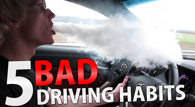 bad driving habits Most drivers will admit they are guilty of having a few regular bad habits out on the road but plenty of us will be making a number of driving mistakes that could end up costing thousands of pounds in repair bills recent advice from the aa garage guide has broken down the most common errors.