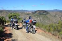 Motorcycle tour group in South Africa