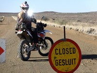 Off road motorbike trail South Africa