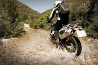 River crossing on South African off road motorcycle tour