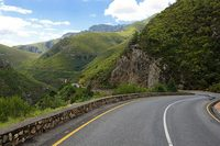 Winding roads perfect for motorcycle rides on the garden route