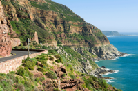 Curves on paved road in Western Cape, perfect for motorcycle touring