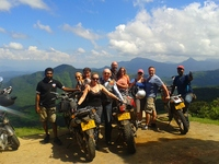 Group picture of motorbike touring group in Sri Lanka
